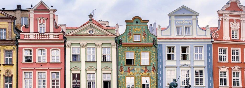 Buildings in Poznan