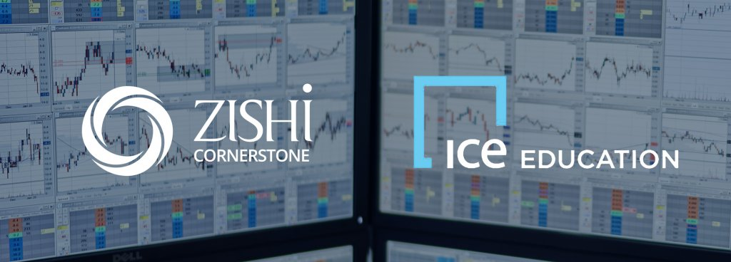 Trading screens with Zishi cornerstone and ice logos