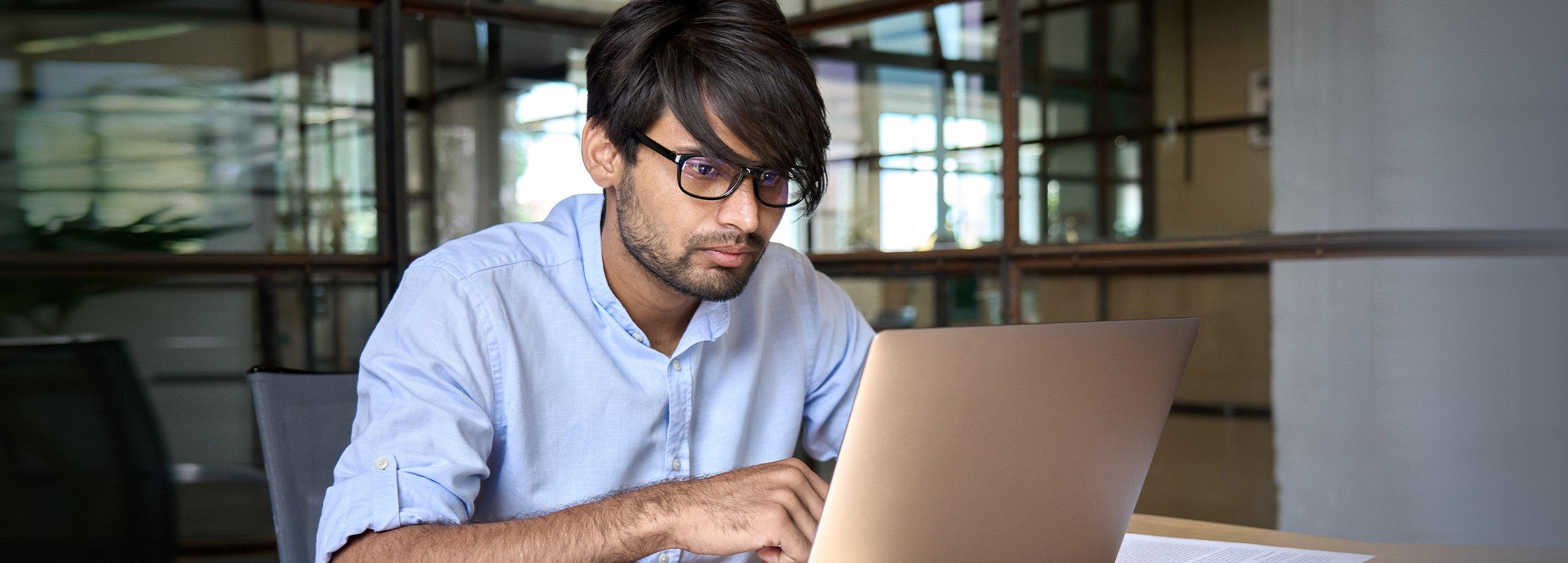 Women working at desk